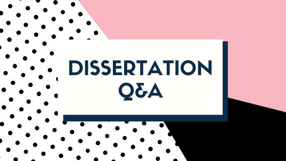Dissertation Q&A: On Writing
