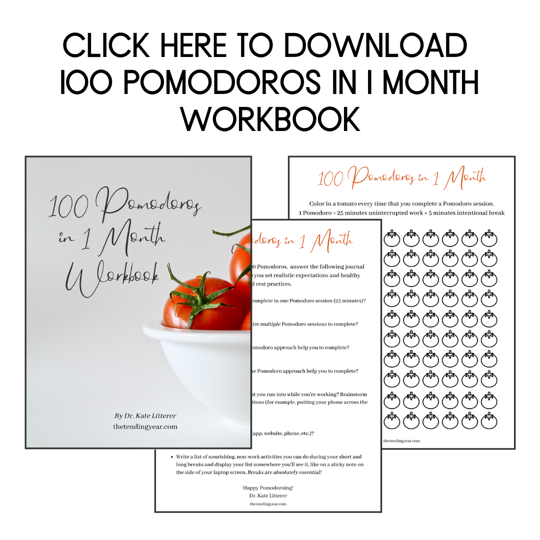 Click here to download 100 Pomodoros in 1 Month Workbook